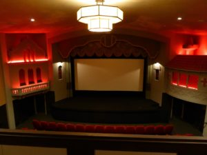 Photo showing the art deco interior of screen 1 in the Campbeltown Picture House