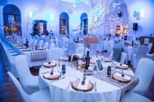 Photo showing winter wonderland decor in Campbeltown Town Hall